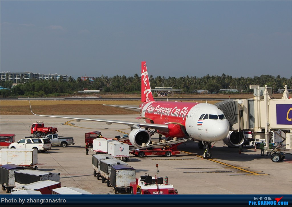 Re:zhangranastro游记1: 2015泰国游(下)-普吉岛&华欣&曼谷 AIRBUS A320-200 HS-BBM 泰国普吉机场