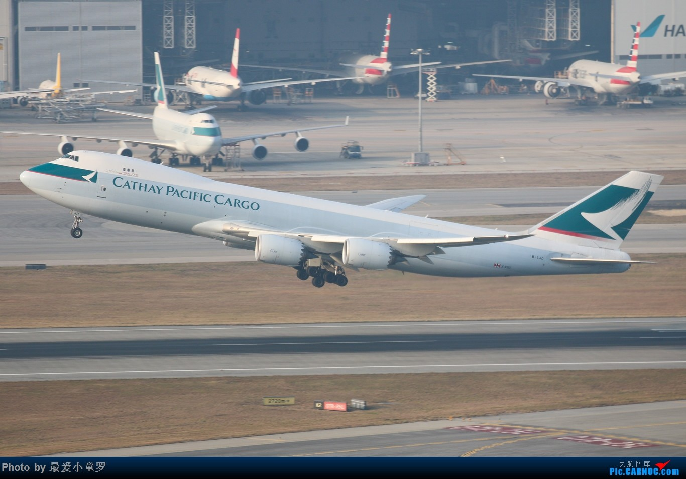 Re:[原创]羊年第一帖——1月25日香港沙螺湾拍机篇之波音747 BOEING 747-8I B-LJD 中国香港赤鱲角国际机场