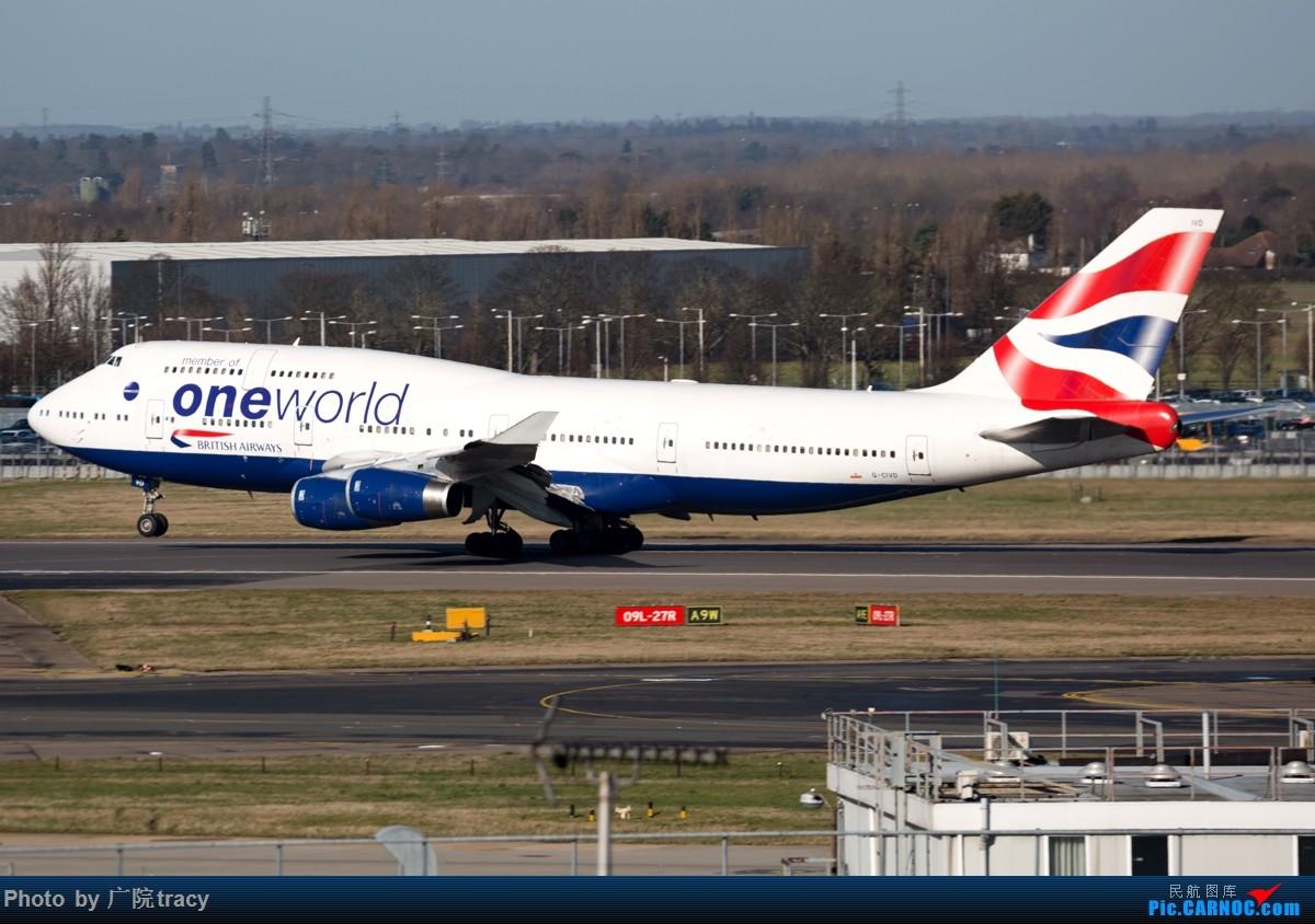 [原创]★ ★ ★ ★ ★伦敦希斯罗机场一组起飞图 让你大饱眼福★ ★ ★ ★ ★ BOEING 747-400 G-CIVD 伦敦希斯罗机场