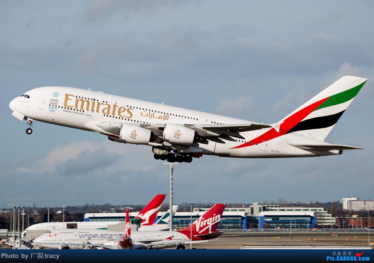 Re:[原创]★ ★ ★ ★ ★伦敦希斯罗机场一组起飞图 让你大饱眼福★ ★ ★ ★ ★ AIRBUS A380-800 A6-EDV 伦敦希斯罗机场