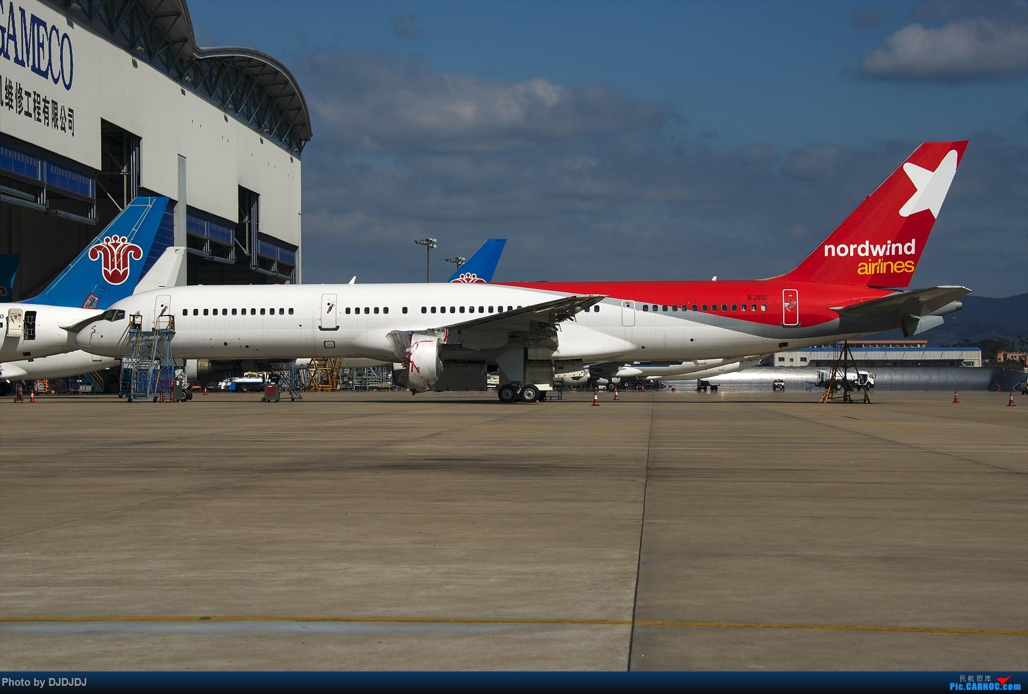 [原创]【BLDDQ--深圳打机队】滑过,看到她,再见了。 BOEING 757-200 B-2850 中国广州白云国际机场