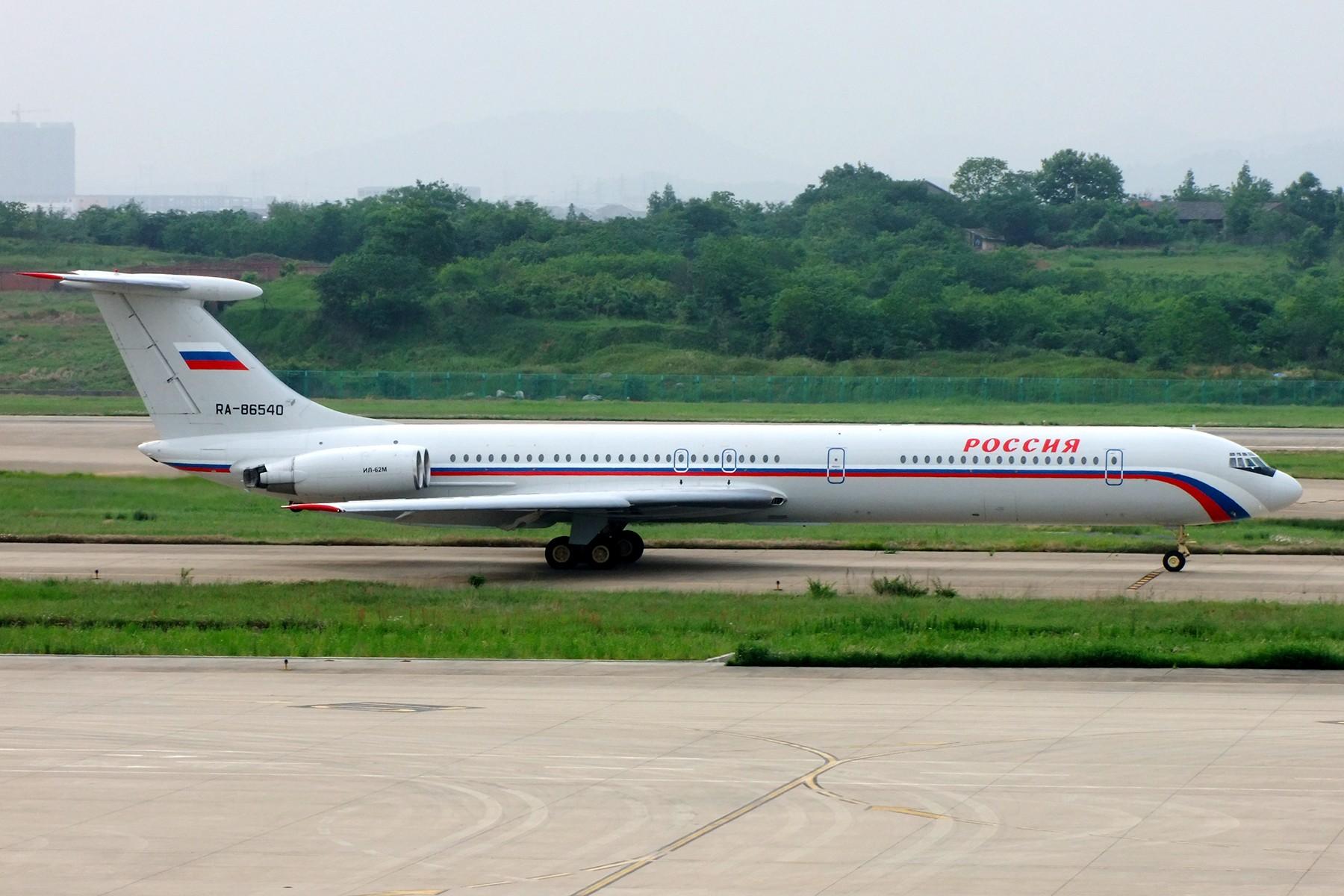 中国�9.��f��i)�il�)~K�_ilyushin il-62m ra-86540 中国南京禄口国际机场