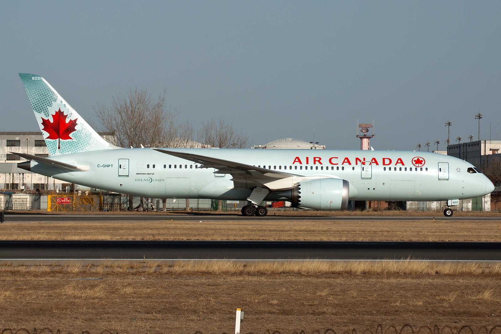 [一图党] 加拿大航空 C-GHPT B787-8 Dreamliner BOEING B787-8 DREAMLINER C-GHPT 中国北京首都国际机场