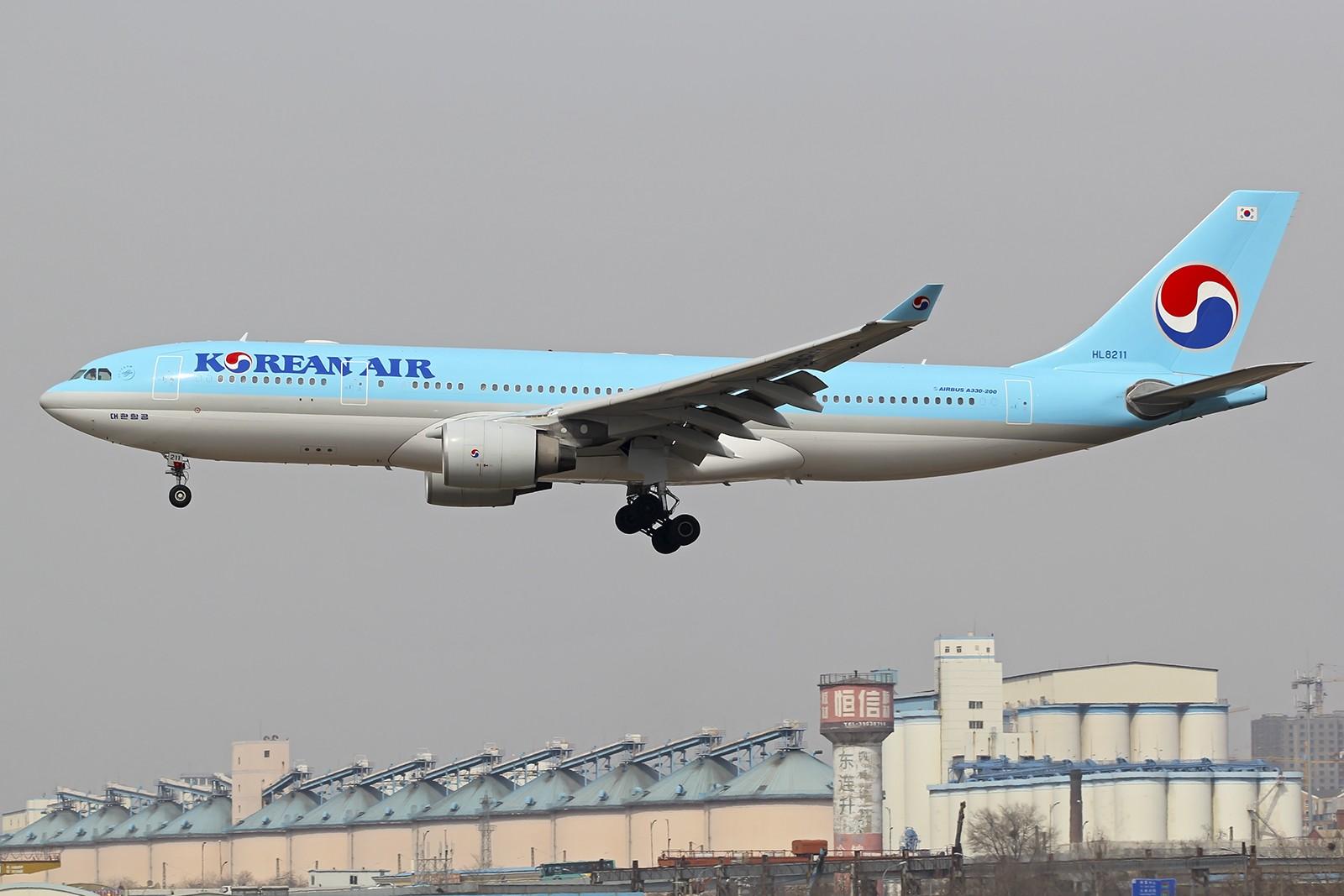 Re:[原创]改回标涂的大韩332 HL8211 AIRBUS A330-200 HL8211 中国大连周水子国际机场