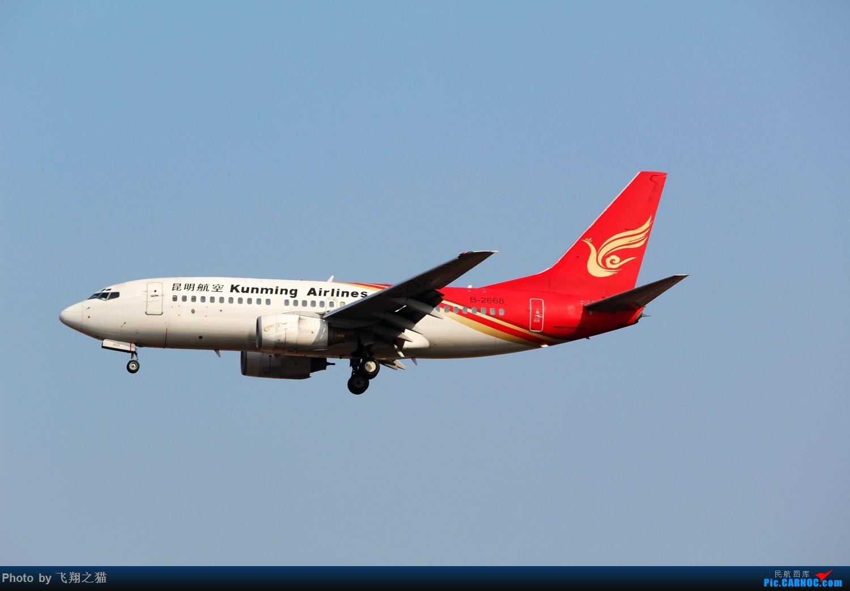 Re:[原创]2015春游CKG(山航慈祥父母.奥凯十年纪念.恩施彩绘) BOEING 737-700 B-2668 中国重庆江北国际机场