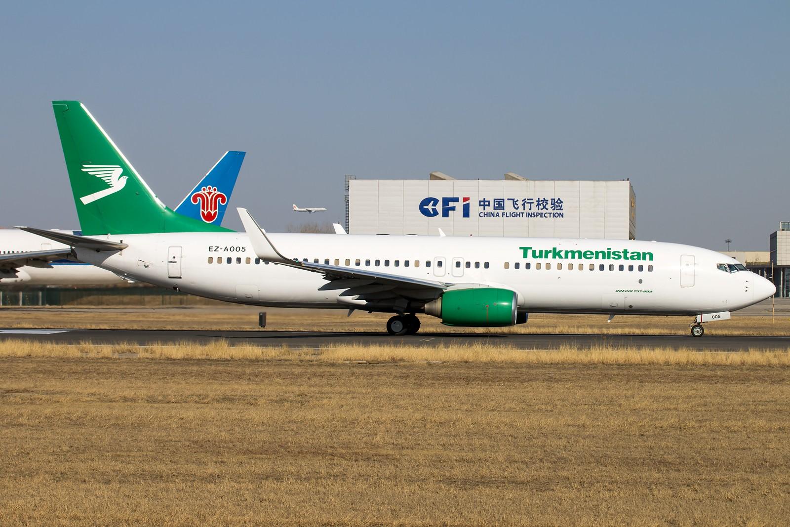 Re:[原创]常规货一组[10pics] BOEING 737-800 EZ-A005 中国北京首都国际机场