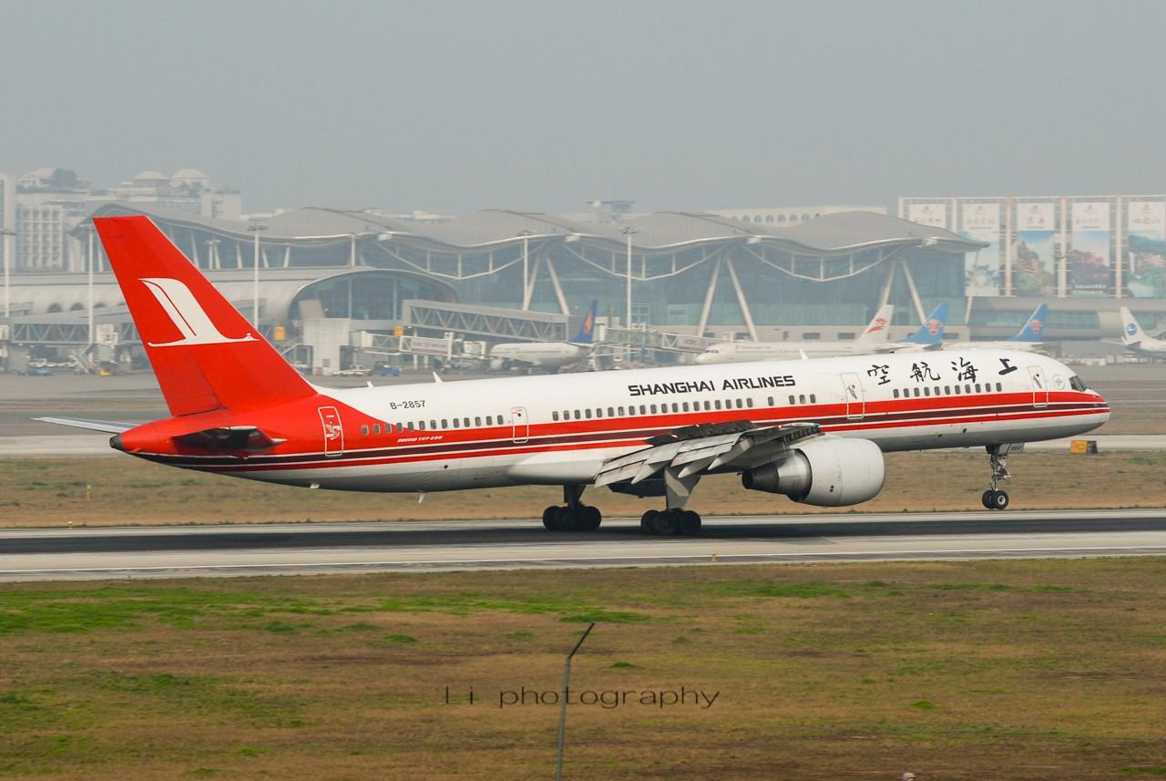 Re:[原创]【CKG打机队】跟风发点老图——纪念上航757-200 BOEING 757-200 B-2857 中国重庆江北国际机场