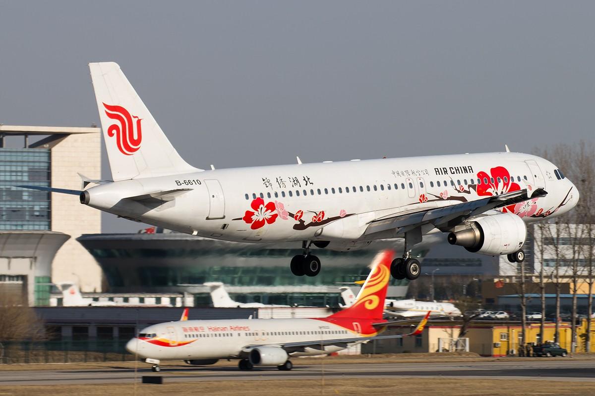 Re:[原创]土堆越来越低了,树却越来越高了,擦烟位没了,就剩下两个树间的空隙可以拍了... AIRBUS A320-200 B-6610 中国北京首都国际机场