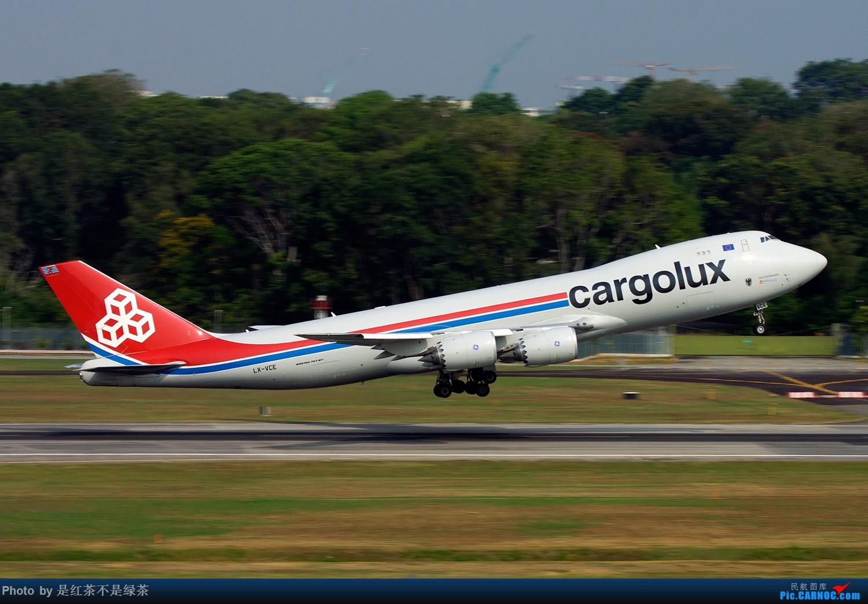 [原创]【红茶拍机】新加坡樟宜拍机,duang都是国内少见货色! BOEING 747-8F LX-VCE 新加坡樟宜机场