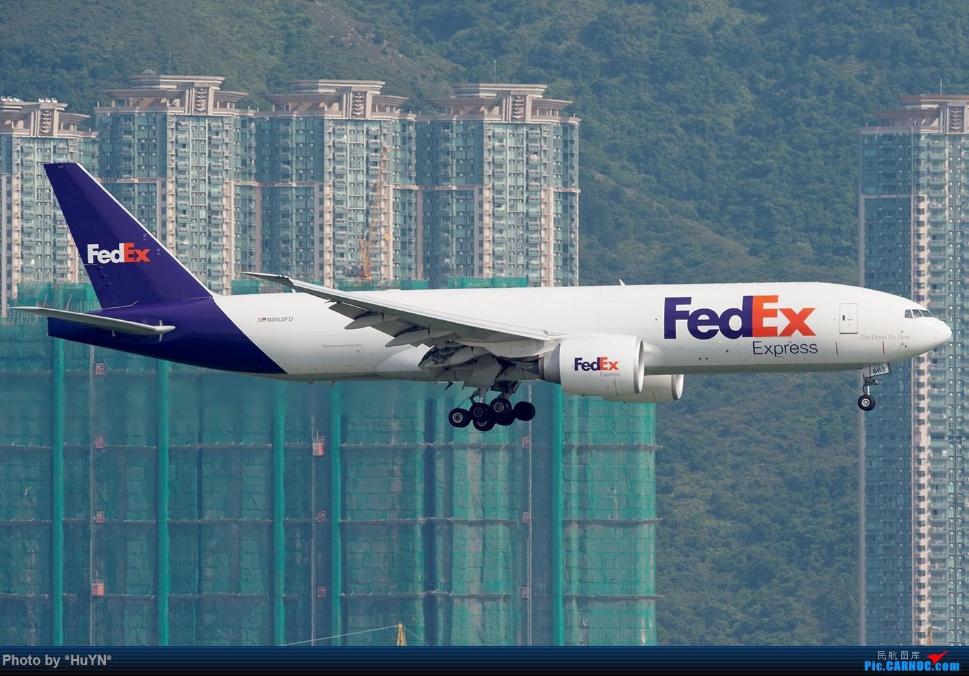 Re:[原创]存货一组(不看后悔) BOEING 777F N863FD 中国香港赤鱲角国际机场