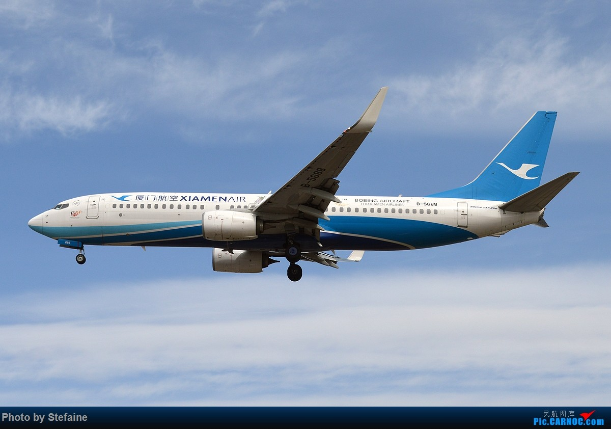 [原创][DLC]大风吹来的蓝天 BOEING 737-800 B-5688 中国大连周水子国际机场