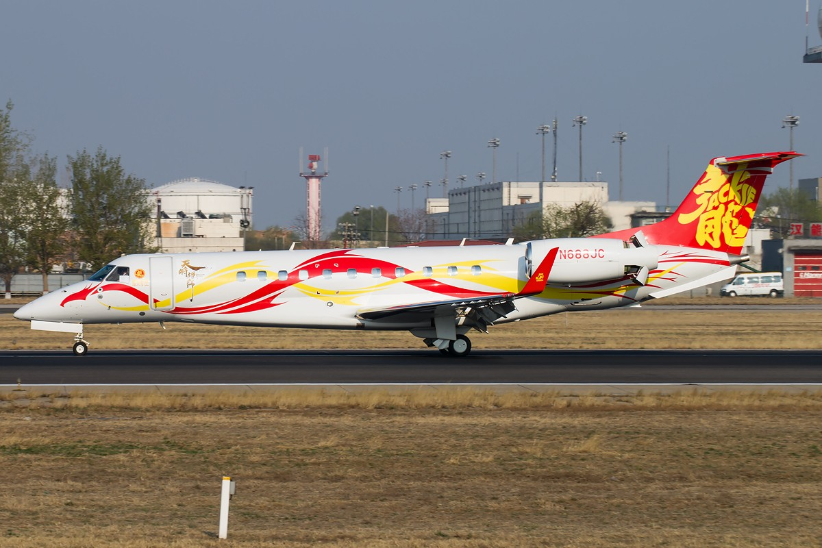 Re:[原创]雨 过 天 晴 [10pics] EMBRAER EMB-135BJ LEGACY 650 N688JC 中国北京首都国际机场