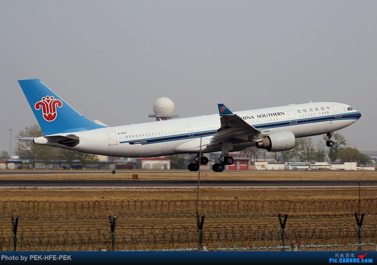 [原创][AutumnKwok]清明拍机,首都机场西跑向南运行。东航新装333,新华网,泰航法航南航77W,海航QQ星,南山湾流等等。 AIRBUS A330-200 B-6135 pek