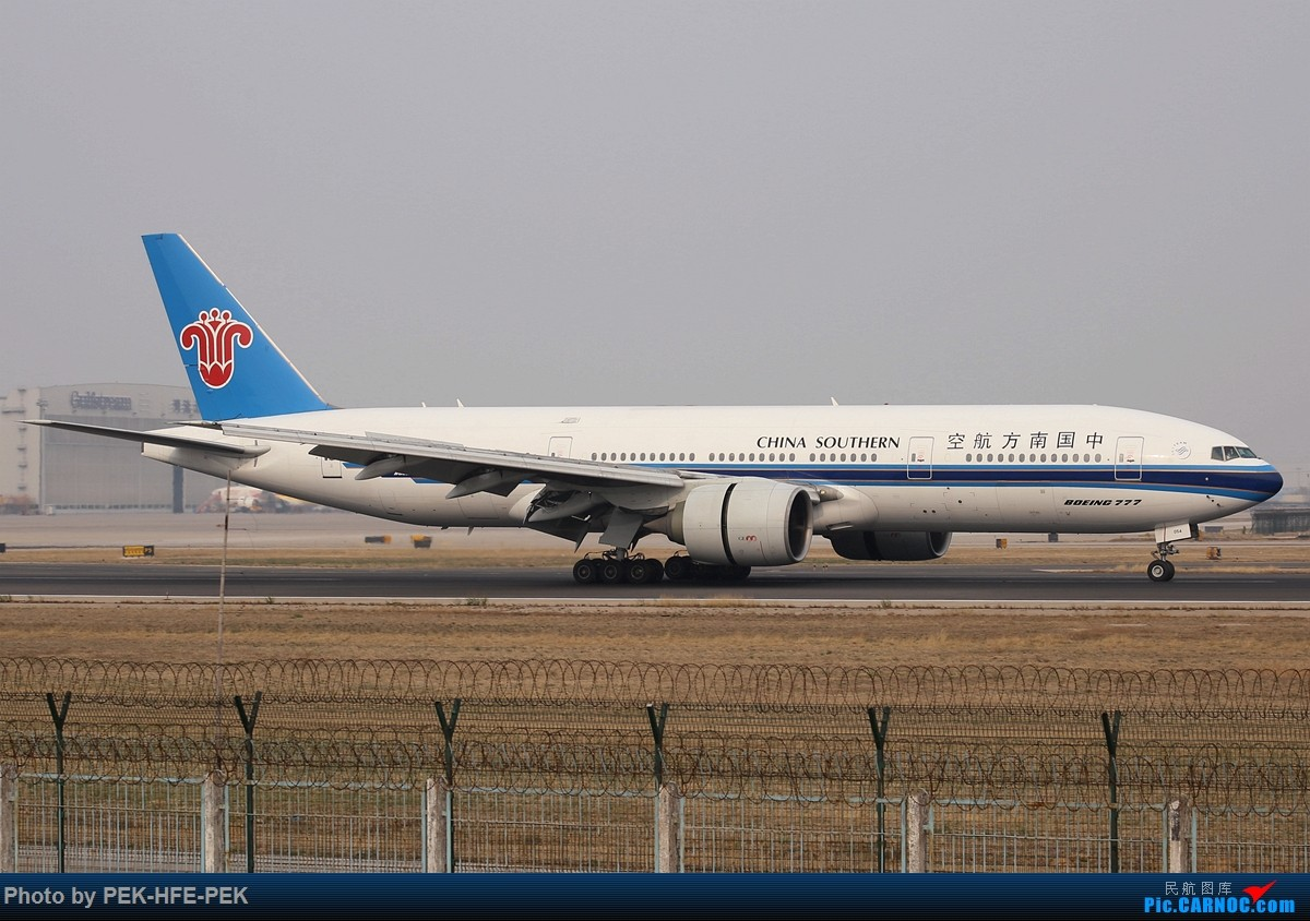 Re:[原创][AutumnKwok]清明拍机,首都机场西跑向南运行。东航新装333,新华网,泰航法航南航77W,海航QQ星,南山湾流等等。 BOEING 777-200 B-2054 pek