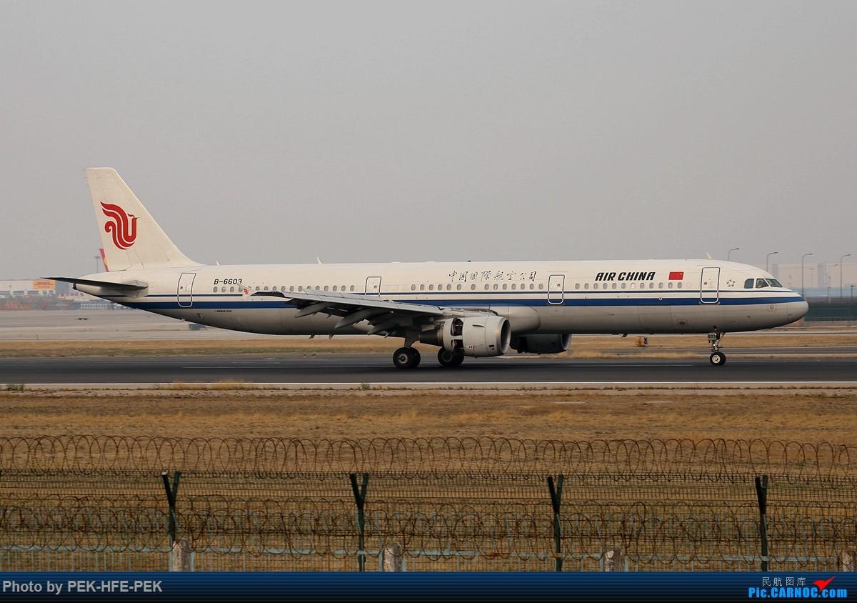 Re:[原创][AutumnKwok]清明拍机,首都机场西跑向南运行。东航新装333,新华网,泰航法航南航77W,海航QQ星,南山湾流等等。 AIRBUS A321-200 B-6603 pek