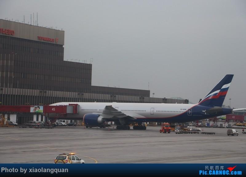 Re:[原创]19日从南往北走的欧洲蜜月游(上集)HKG-SVO by俄航777w,SVO-FCOby俄航320(更新中,图多请小心)小飞机送一返一 BOEING 777-300ER VP-BGF 俄罗斯谢诺梅杰沃机场