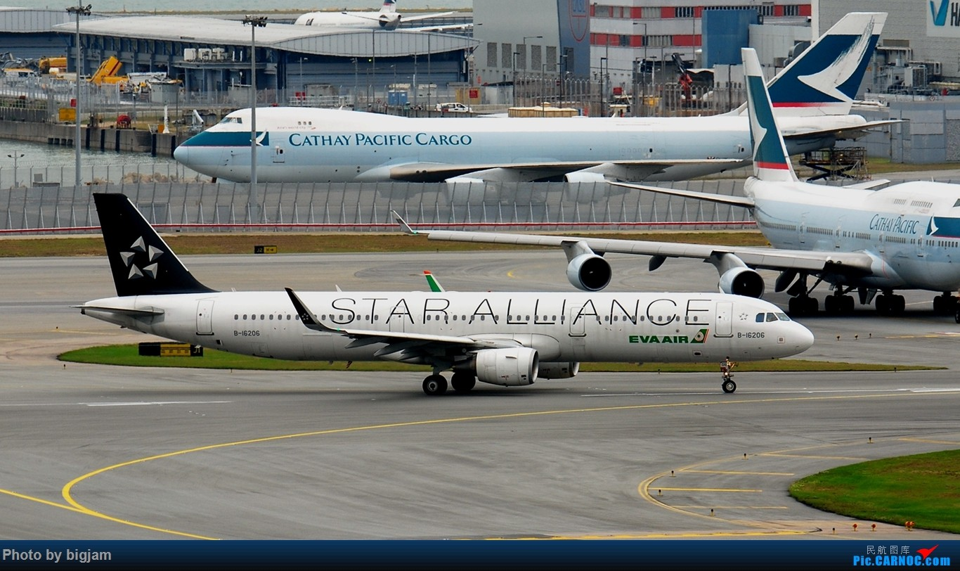 Re:[原创]香港三日闲游,外加沙螺湾和HKG T2观景台拍机游记,众多PEK看不到的货。(持续更新中) AIRBUS A321-200 B-16206 中国香港赤鱲角国际机场