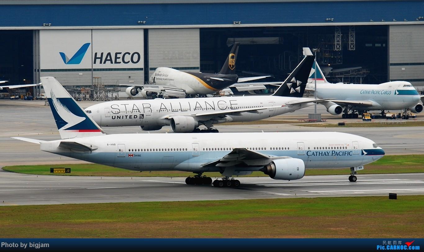Re:[原创]香港三日闲游,外加沙螺湾和香港机场T2观景台拍机游记,众多PEK看不到的货。(持续更新中) BOEING 777-200 B-HNB 中国香港赤鱲角国际机场