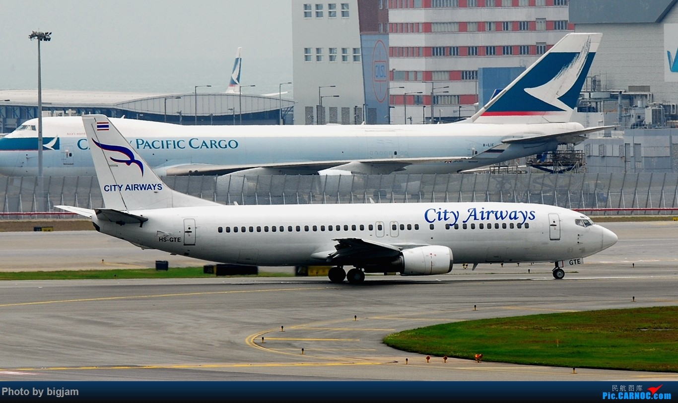 Re:[原创]香港三日闲游,外加沙螺湾和香港机场T2观景台拍机游记,众多PEK看不到的货。(持续更新中) BOEING 737-400 HS-GTE 中国香港赤鱲角国际机场