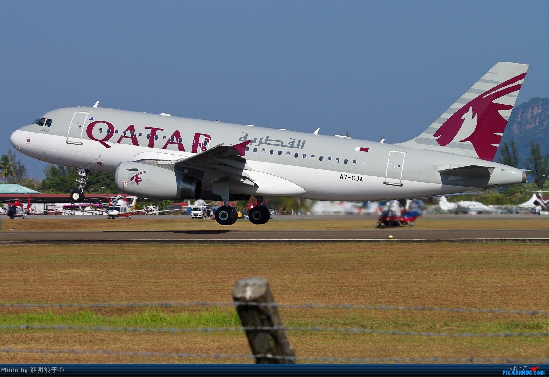 Re:[原创]LIMA'15 --民航资源网飞友在LIMA AIRBUS A319 A7-CJA 马来西亚浮罗交怡机场