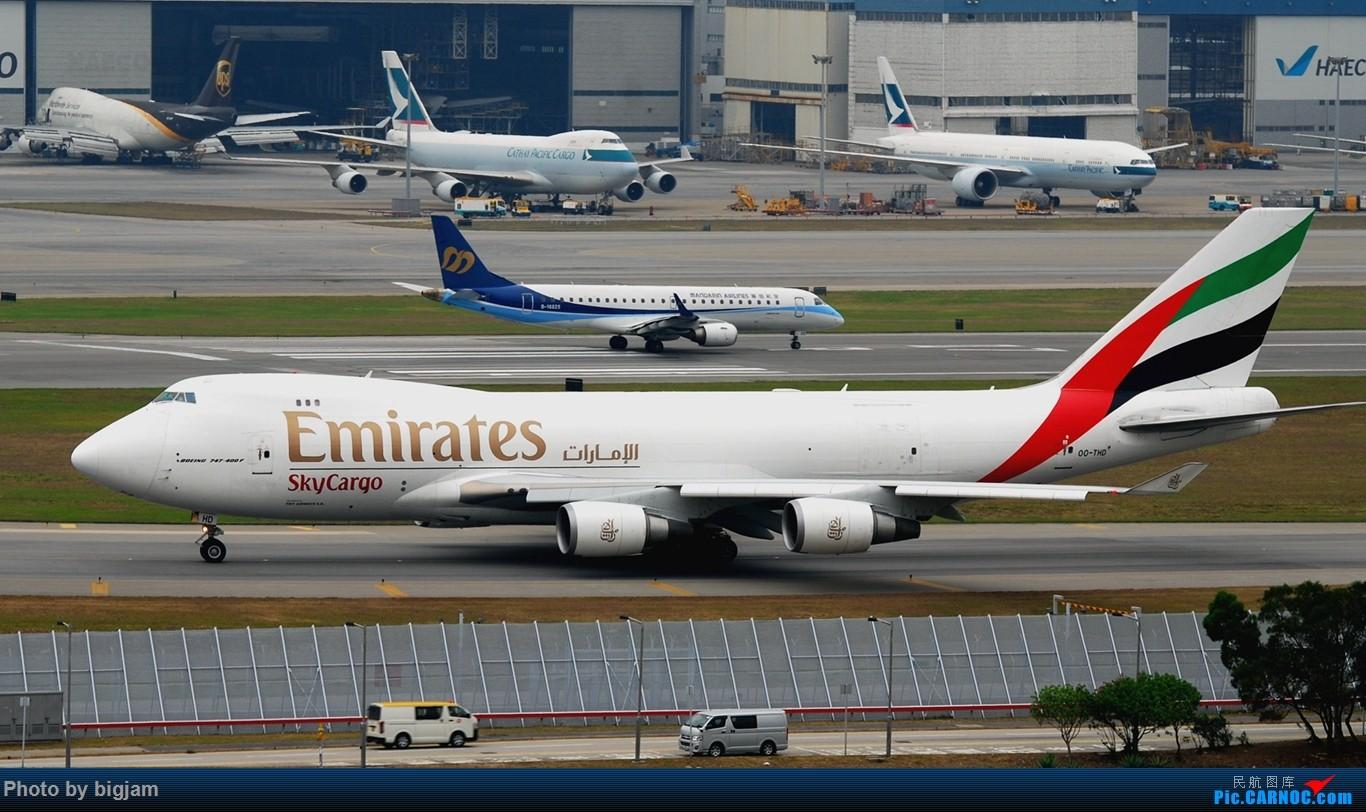 Re:[原创]香港三日闲游,外加沙螺湾和香港机场T2观景台拍机游记,众多PEK看不到的货。(持续更新中) BOEING 747-4HAF(ER) OO-THD 中国香港赤鱲角国际机场