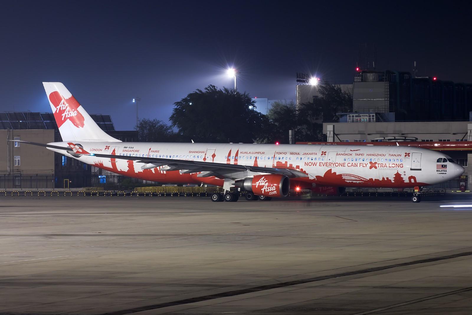 [原创][一图党] AirAsia X 9M-XAA A330-300 AIRBUS A330-300 9M-XAA 中国北京首都国际机场
