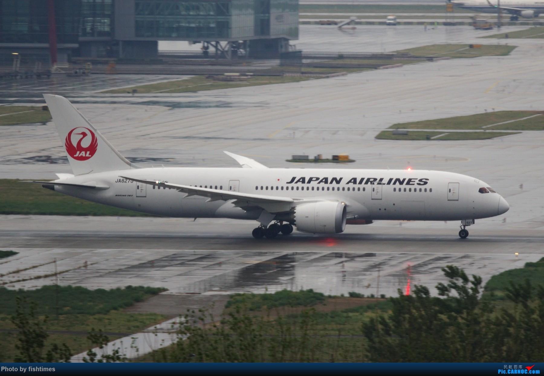 Re:[原创]【PEK】20150501_RWY01_雨天落地开反推! BOEING 787-8 JA827J 中国北京首都国际机场