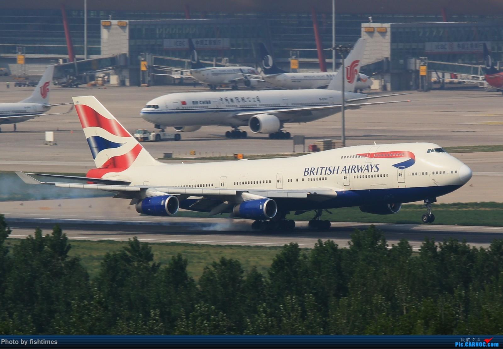 [原创]【PEK】【***庆祝五一国际劳动节***】20150502_RWY01一组 BOEING 747-400 G-CIVB 中国北京首都国际机场