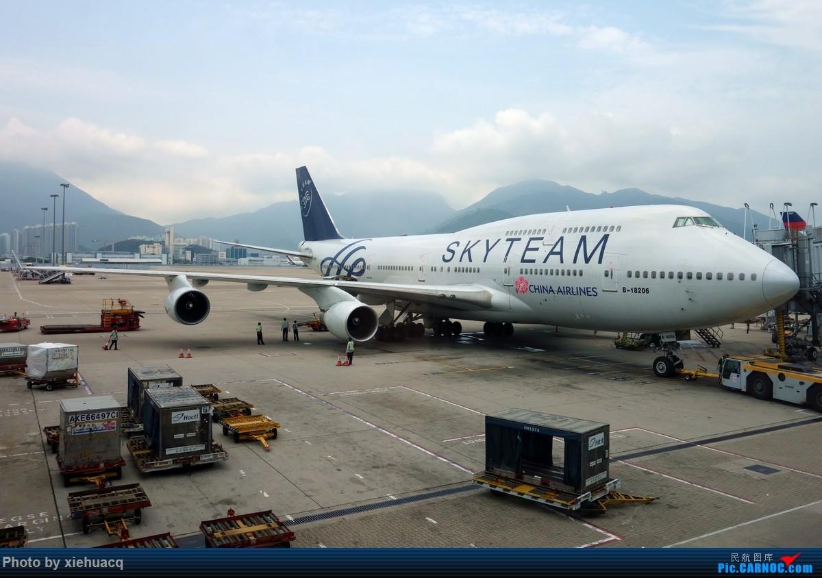 Re:[原创]【沉迷的小飞侠】韩国游,HKG&ICN顺便拍飞机,AF罂粟花CI观光机天合机BR牵手猫CX寰宇机KE天合*2…… BOEING 747-400 B-18206 中国香港赤鱲角国际机场
