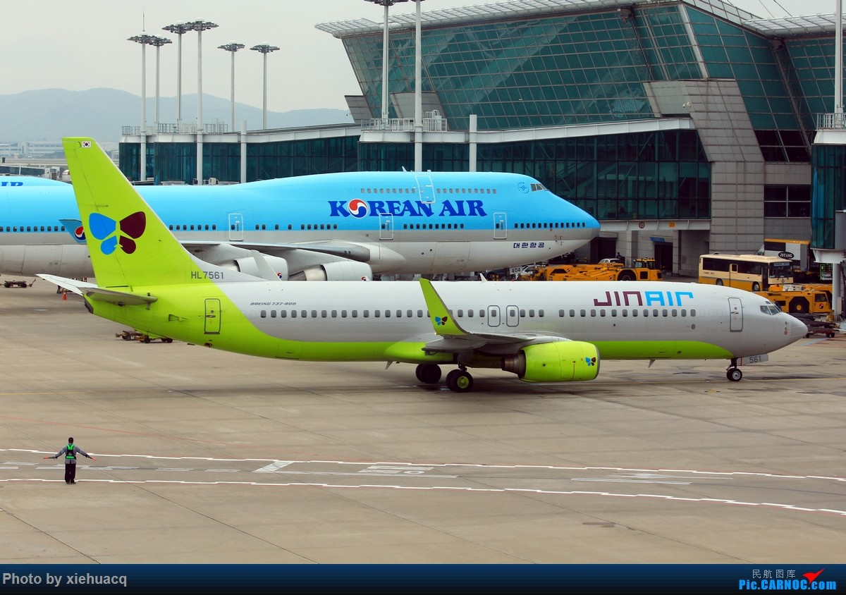 Re:[原创]【沉迷的小飞侠】韩国游,HKG&ICN顺便拍飞机,AF罂粟花CI观光机天合机BR牵手猫CX寰宇机KE天合*2…… BOEING 737-800 HL7561 韩国首尔仁川机场