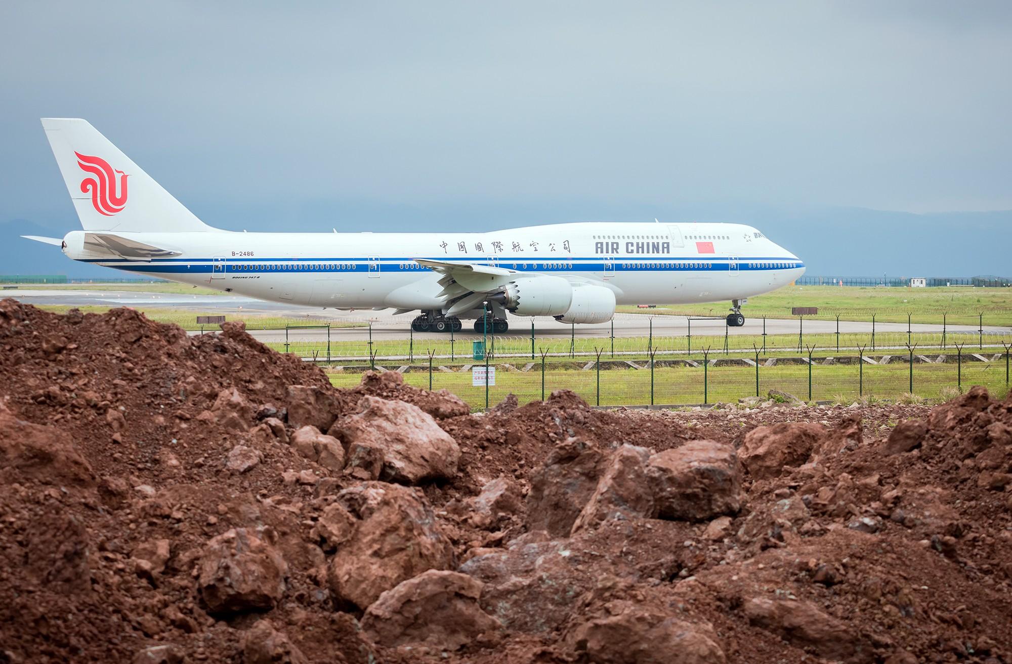 Re:[原创]CKG拍机(五一劳做在机场迎接国航747-8首航重庆,中货东航747也来助阵) BOEING 747-8I B-2486 重庆江北国际机场