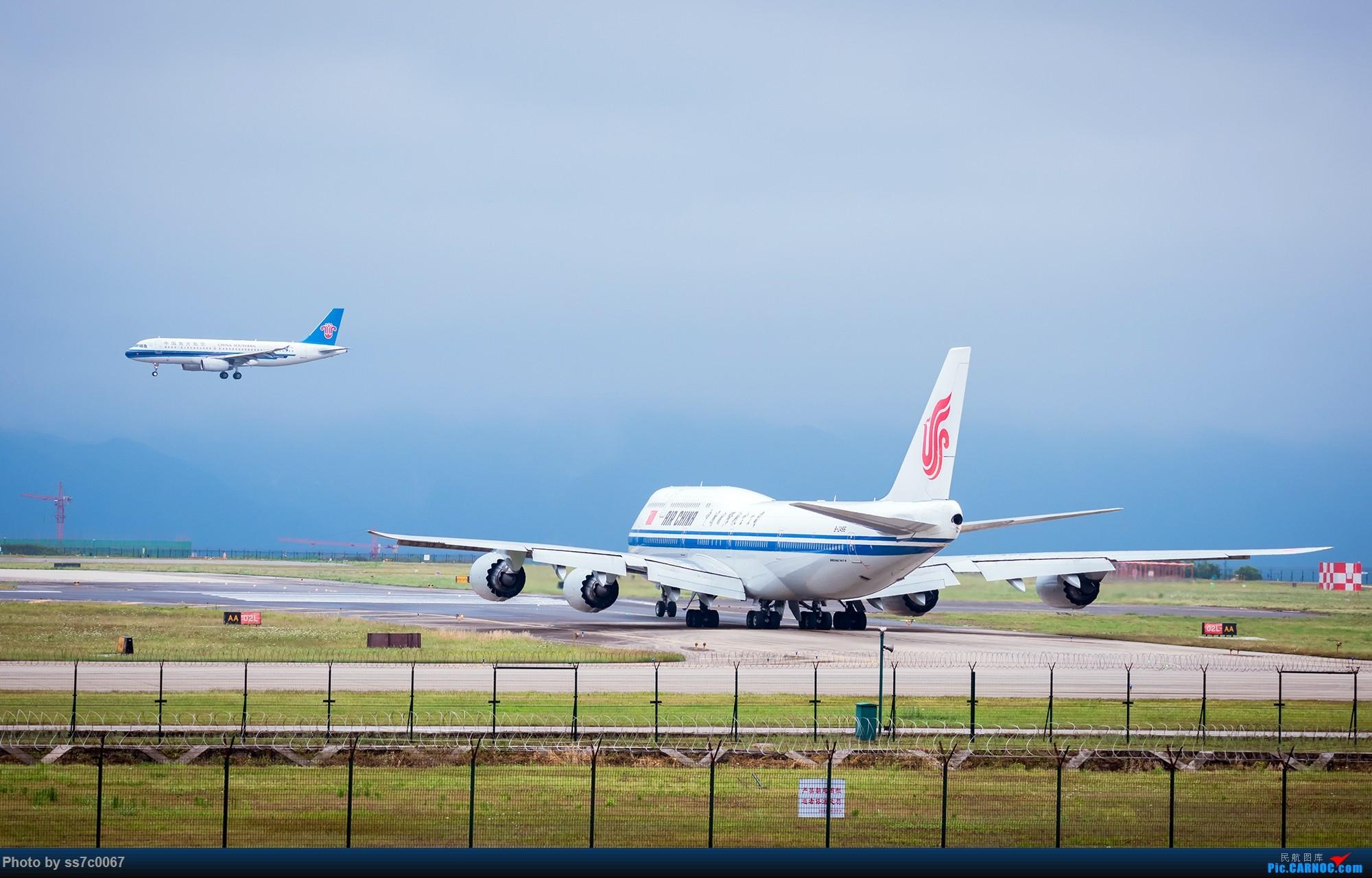 Re:[原创]CKG拍机(五一劳做在机场迎接国航747-8首航重庆,中货东航747也来助阵) BOEING 747-8I B-2486 重庆江北机场