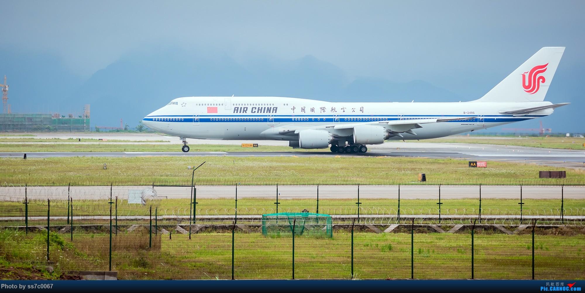 Re:[原创]CKG拍机(五一劳做在机场迎接国航747-8首航重庆,中货东航747也来助阵) BOEING 747-8I B-2486 CKG