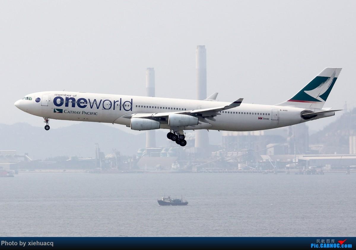 Re:[原创]【沉迷的小飞侠】韩国游,HKG&ICN顺便拍飞机,AF罂粟花CI观光机天合机BR牵手猫CX寰宇机KE天合*2…… AIRBUS A340-300 B-HXG 中国香港赤鱲角国际机场
