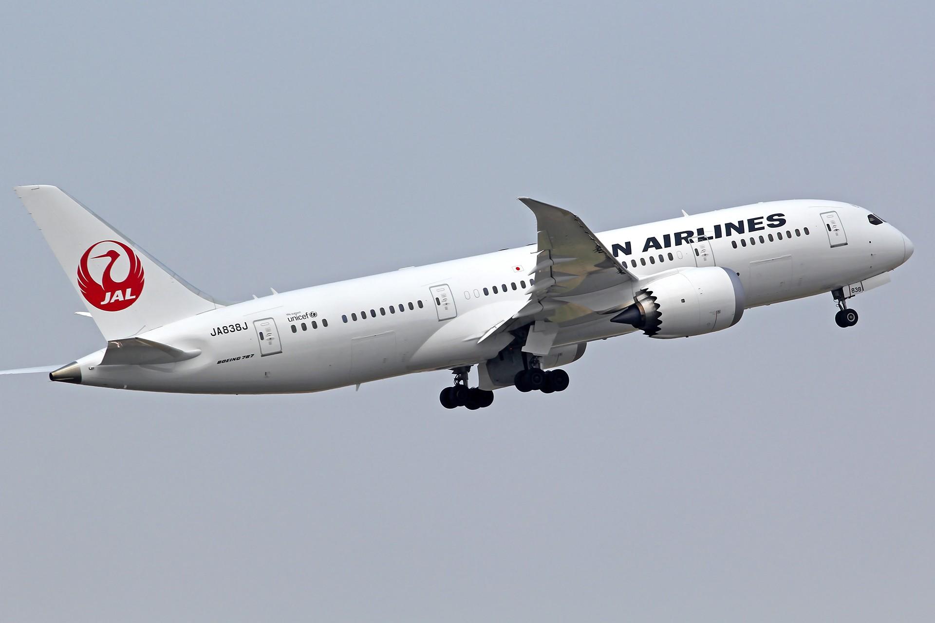 [原创][DLC]雨过天晴,春意盎然…….. BOEING 787-8 JA838J 中国大连周水子国际机场