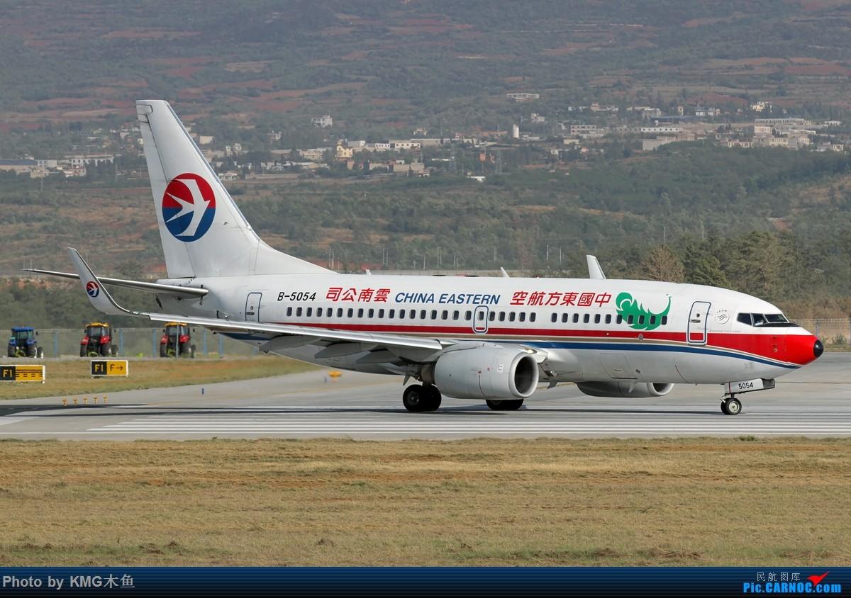 Re:[原创]【KMG】【昆明长水国际机场】昨天西跑头拍了几组降落,无奈被黄土飞扬的环境给吓跑了 BOEING 737-700 B-5054 中国昆明长水国际机场