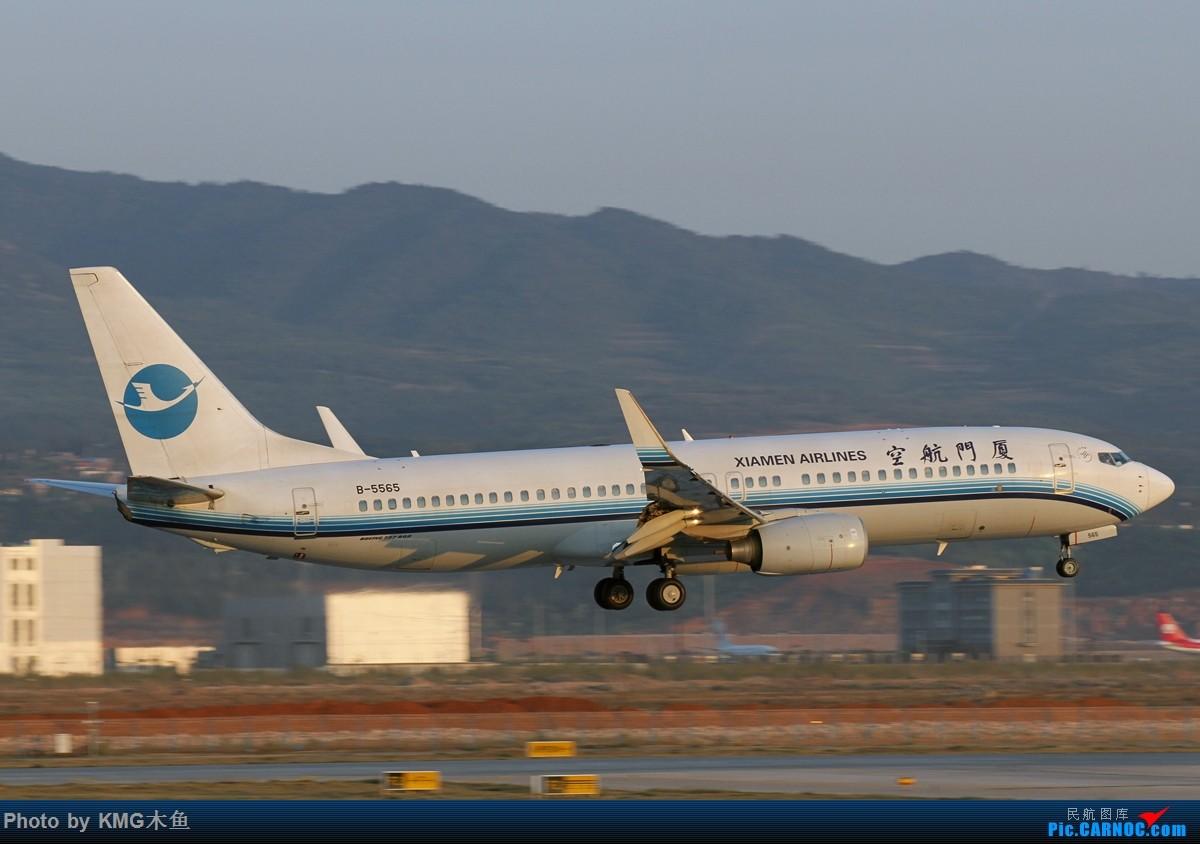 Re:[原创]【KMG】【昆明长水国际机场】昨天西跑头拍了几组降落,无奈被黄土飞扬的环境给吓跑了 BOEING 737-800 B-5565 中国昆明长水国际机场