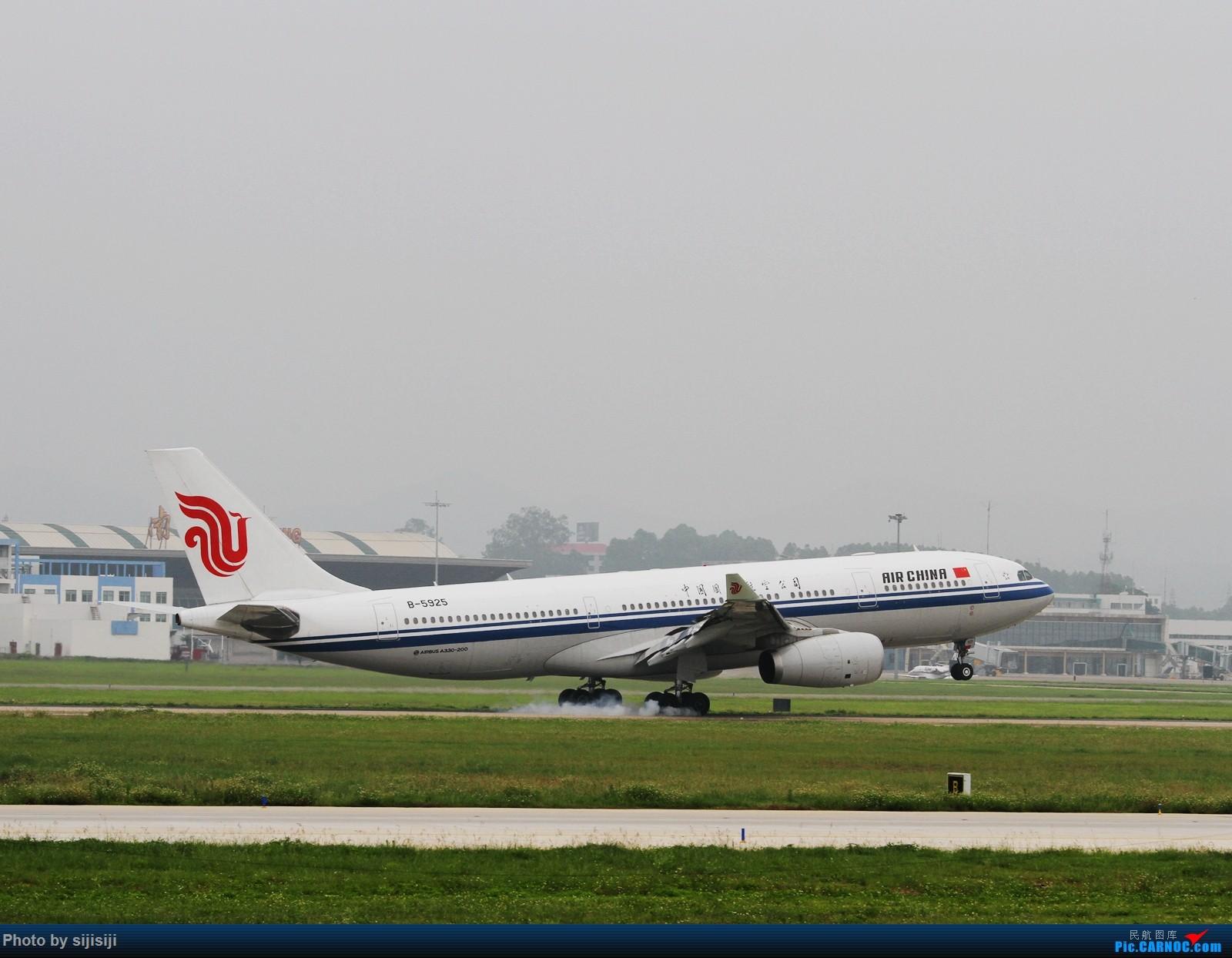 [原创]【NNG飞友】屌丝村口迎来金凤凰,国航332飞抵NNG AIRBUS A330-200 B-5925 中国南宁吴圩国际机场