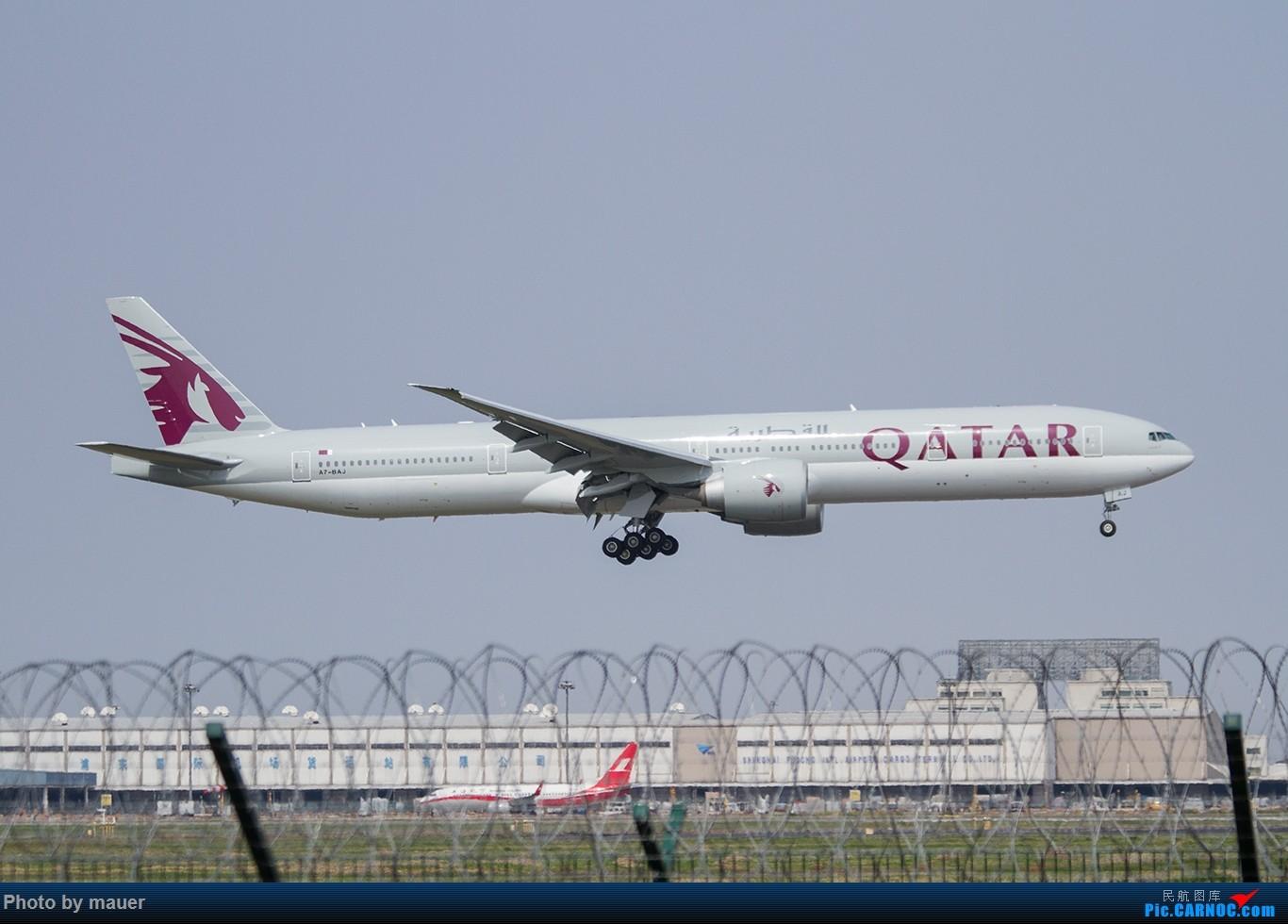 [原创]【福州飞友会】第一次PVG拍机 满足! BOEING 777-300ER A7-BAJ