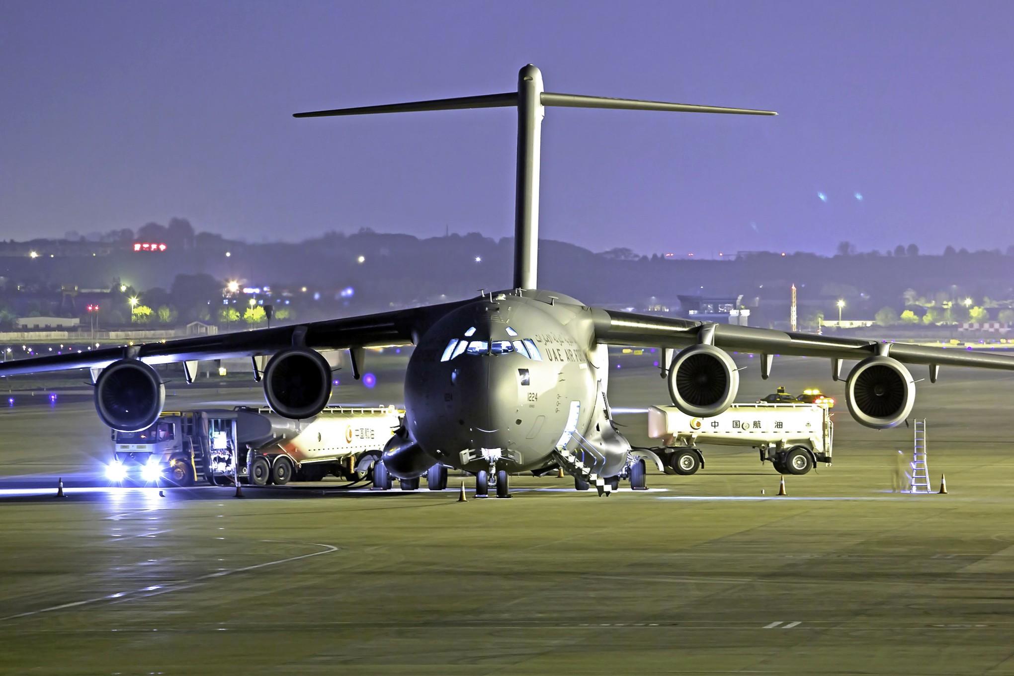 Re:[原创][DLC]全球霸王III-C17….连载……. BOEING C-17A GLOBEMASTER III 1224 中国大连周水子国际机场