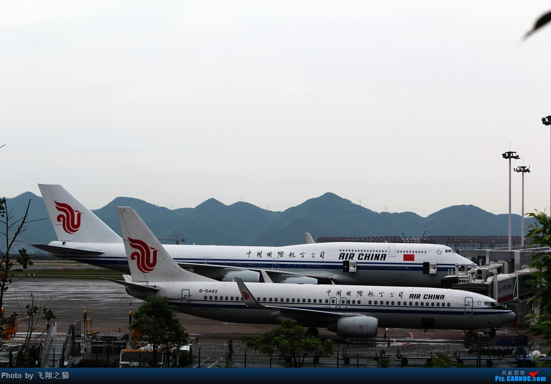 [原创]CKG拍机(周末遇见唯品彩绘,天津大运彩绘,国航最新747-8) BOEING 747-8I  重庆江北国际机场