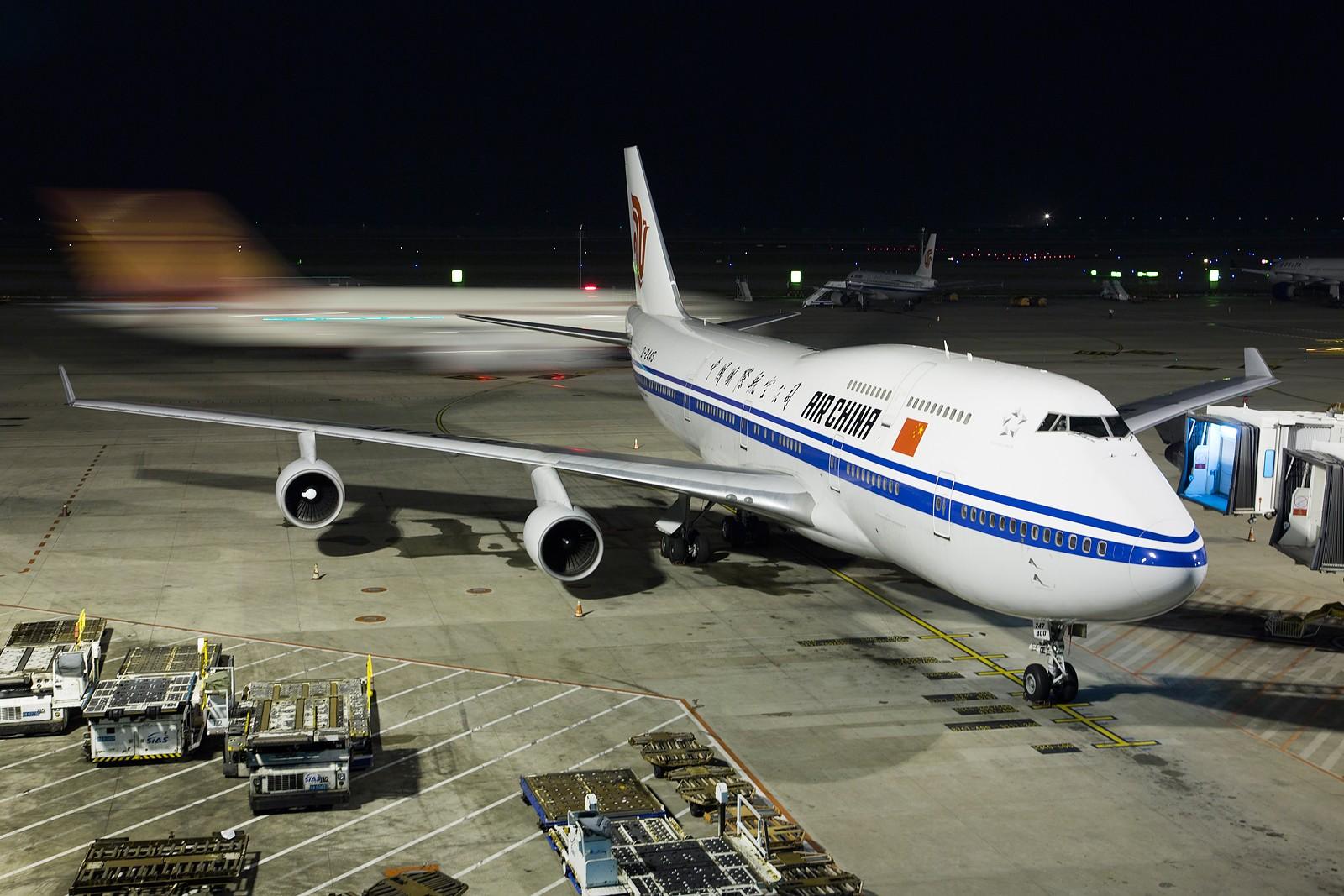 """[原创]【PVG】**********浦东T2""""内场党"""",夜景来几张[1600*1067]********** BOEING 747-400 B-2445 中国上海浦东国际机场"""