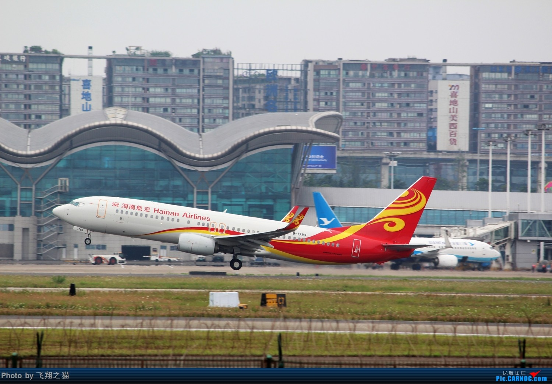 Re:[原创]CKG拍机(周末交作业反推位杂图) BOEING 737-800 B-1783 重庆江北国际机场