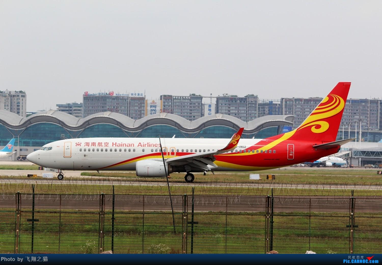 Re:[原创]CKG拍机(周末交作业反推位杂图) BOEING 737-800 B-1902 重庆江北国际机场