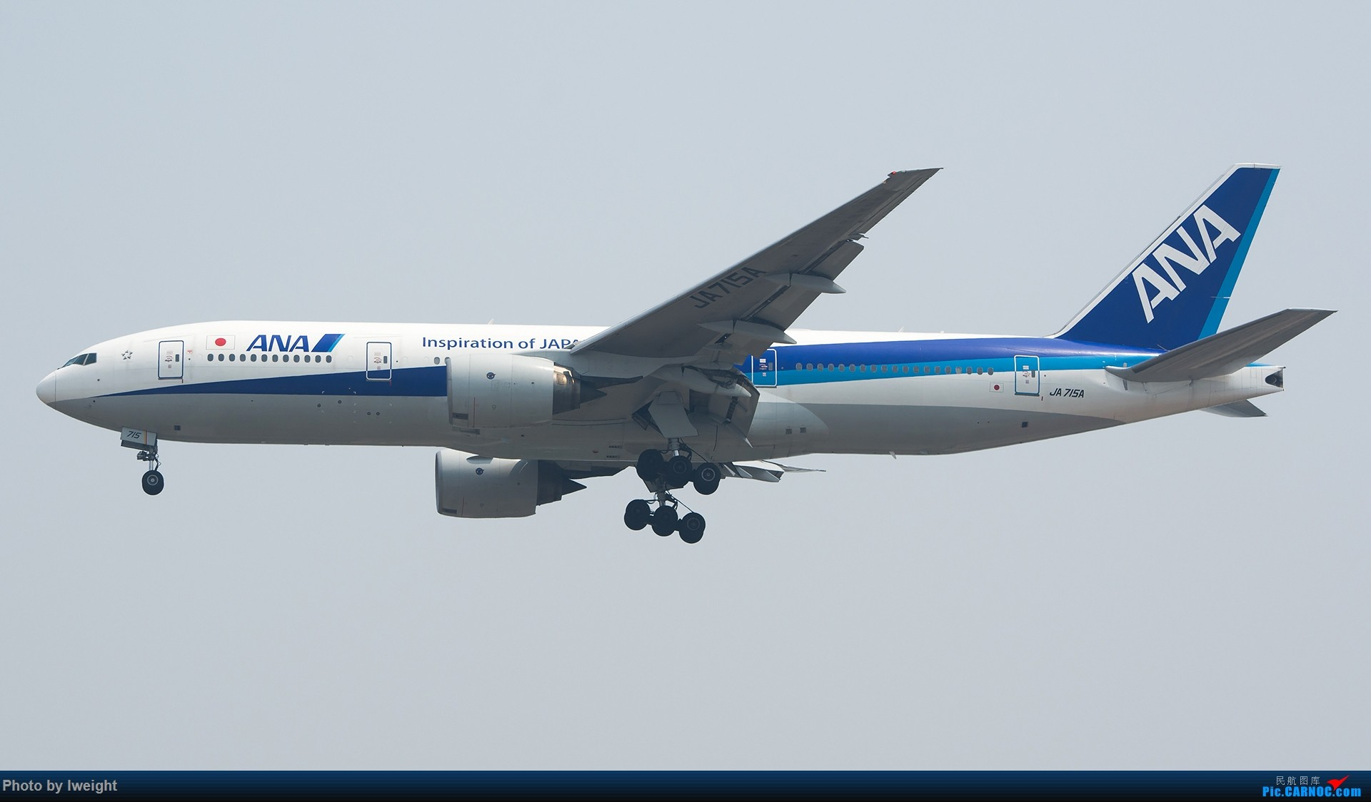 Re:[原创]周末帝都霾天拍机,凑合看看吧【2015-5-23】 BOEING 777-200 JA715A 中国北京首都国际机场