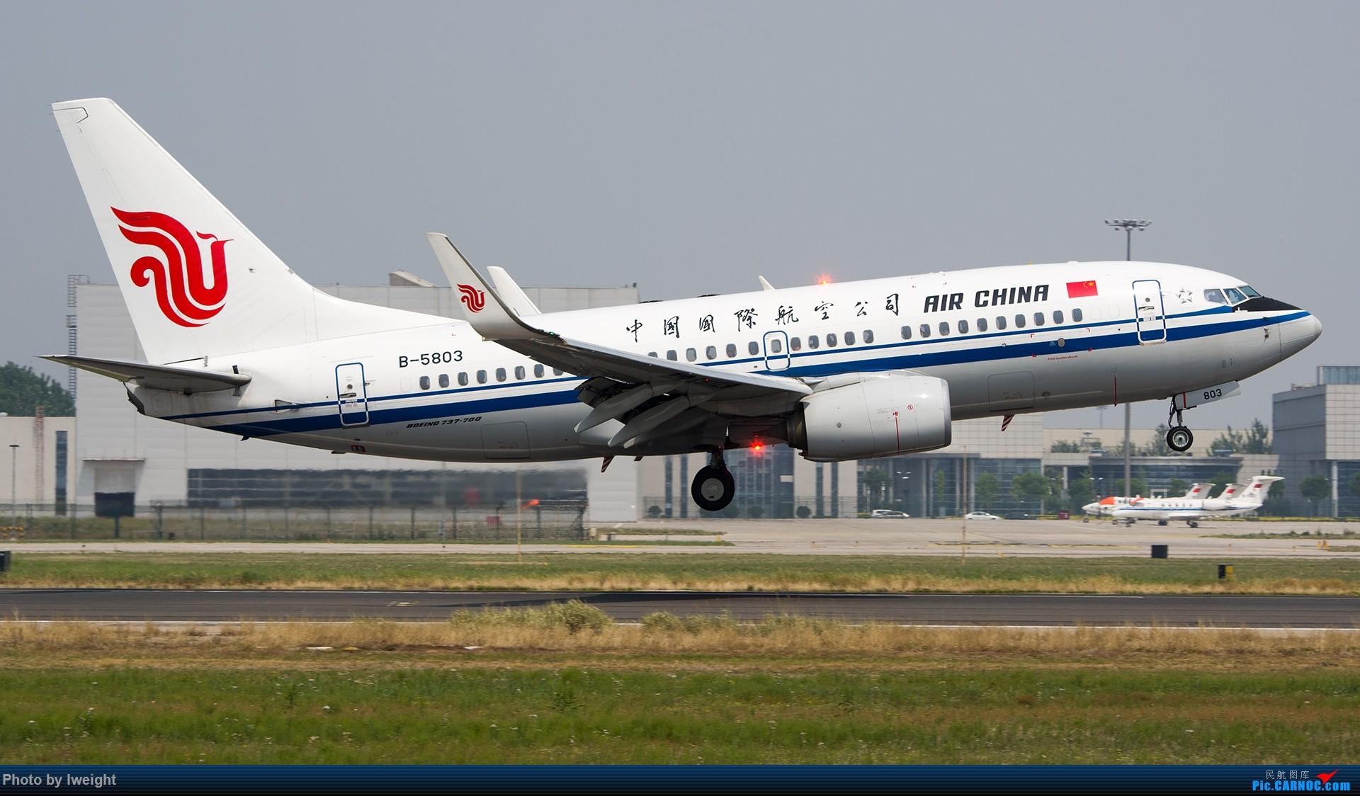 Re:[原创]周末帝都霾天拍机,凑合看看吧【2015-5-23】 BOEING 737-700 B-5803 中国北京首都国际机场