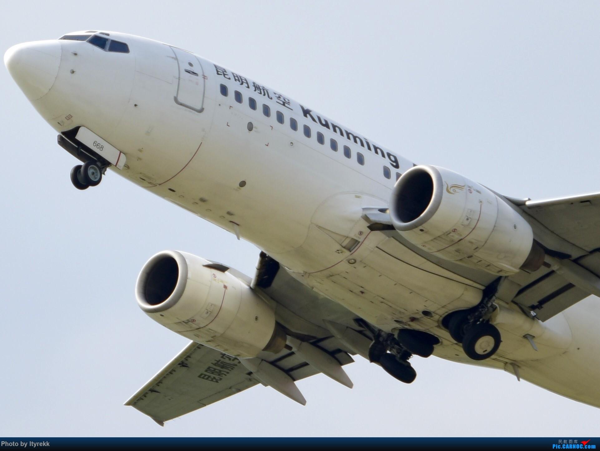 [原创]【5.23LUM】玩腻了楼顶拍,来一次现场版的!求小飞机 BOEING 737-700 B-2668 中国芒市机场
