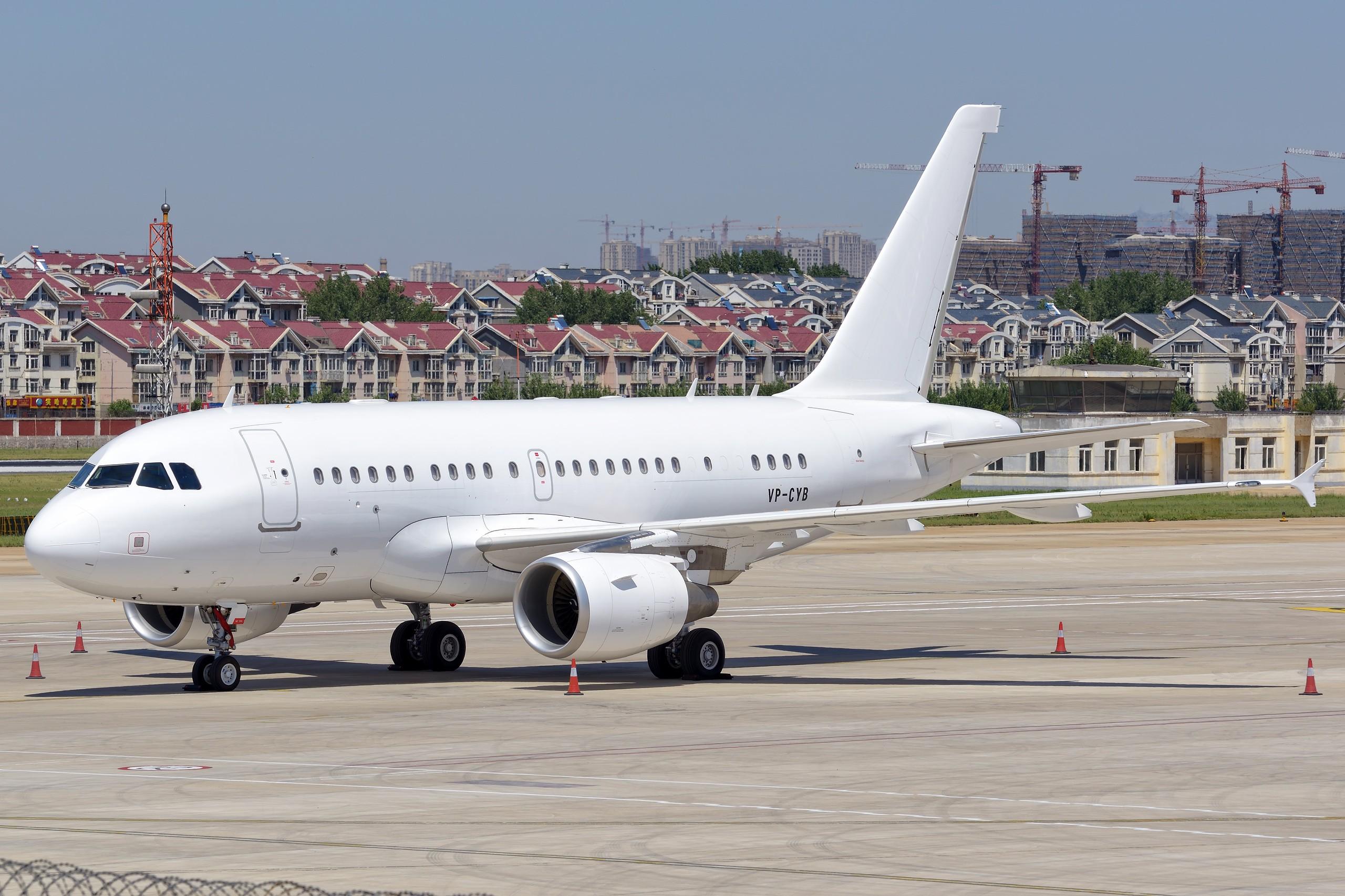 [原创]★[DLC]318公务机 2560pix★ AIRBUS A318-112CJ VP-CYB 中国大连周水子国际机场