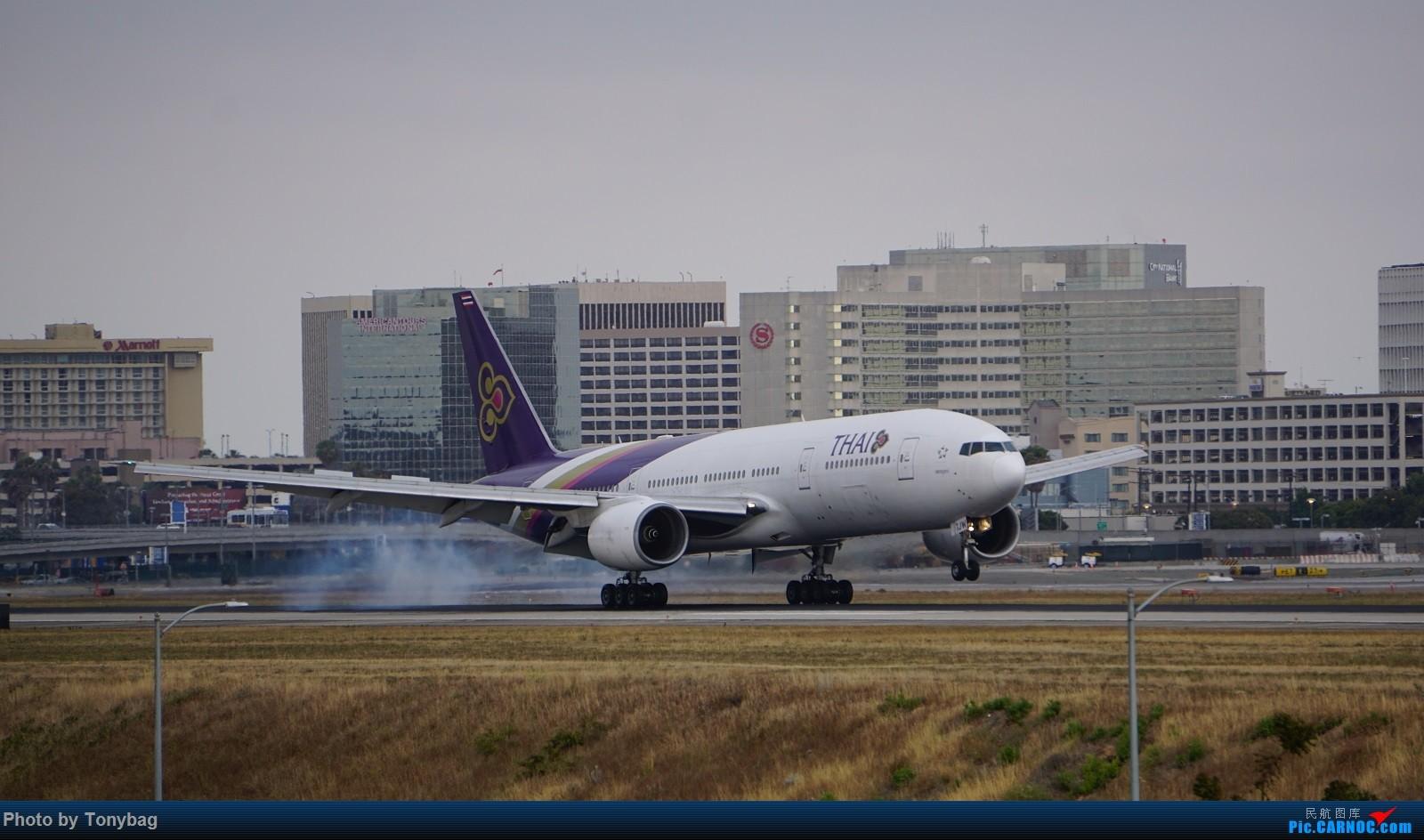 Re:[原创]家住LAX附近就是方便,天天拍飞机 BOEING 777-200ER HS-TJW