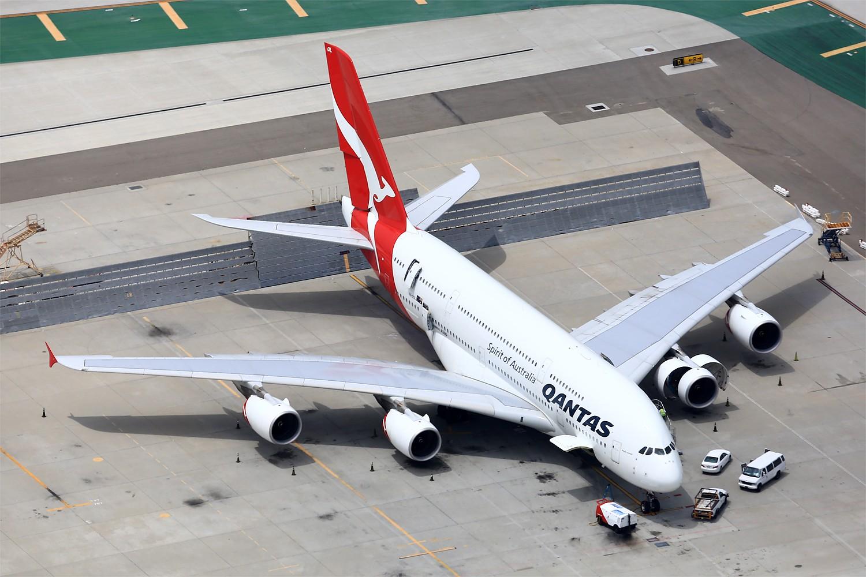 Re:[原创]【LAX】**********A380合集,列强巨无霸的聚会[1500*1000]********** AIRBUS A380-800 VH-OQL 美国洛杉矶机场